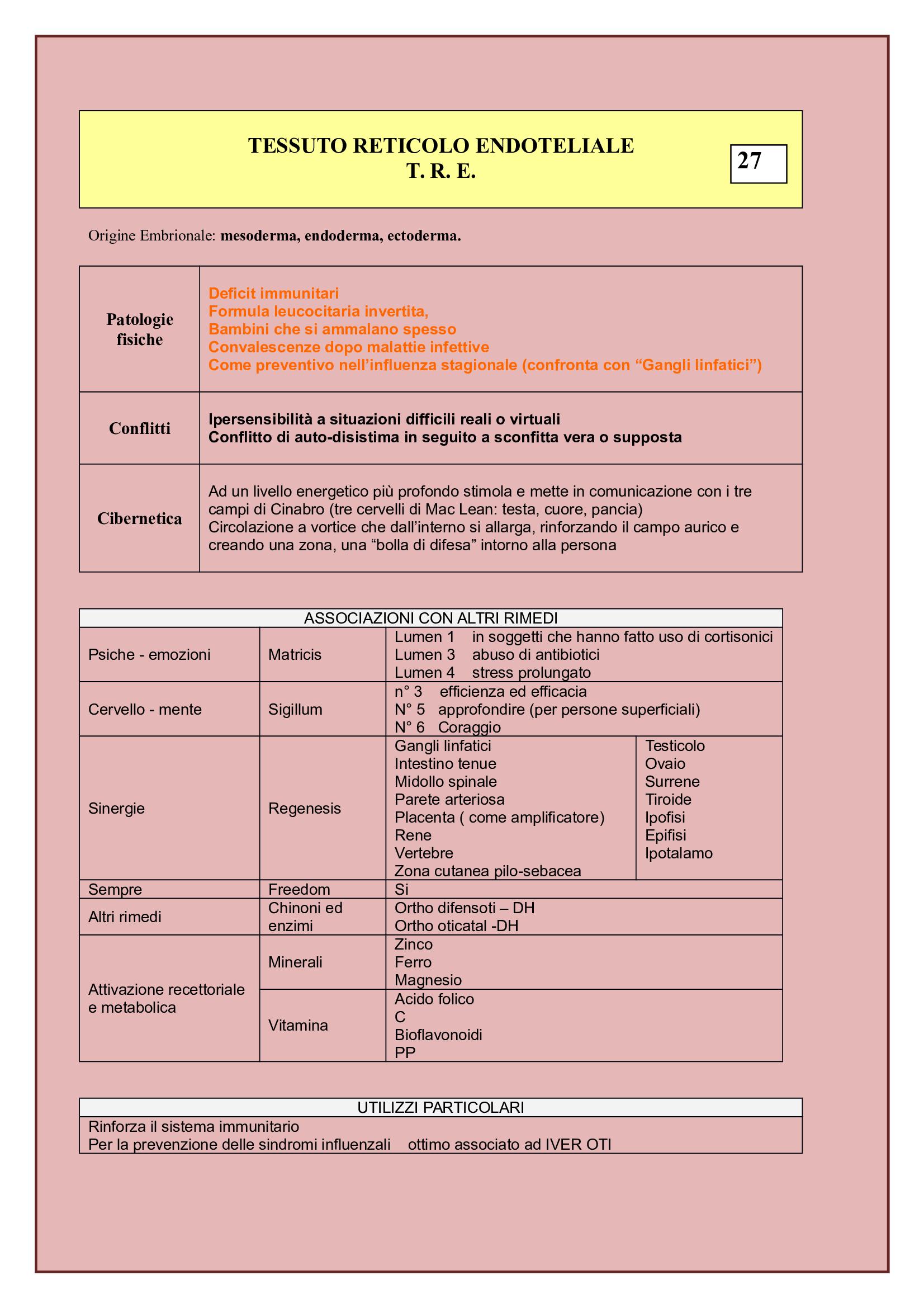 Tessuto Reticolo Endoteliare T.R.E.